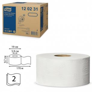 Бумага туалетная 170м, TORK (Т2), КОМПЛЕКТ 12шт, Advanced, 2-сл, бел (дисп.600164,601663,-664), 120231