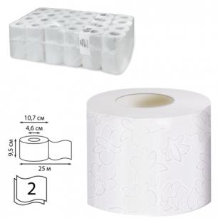 Бумага туалетная 25м, VEIRO Professional Premium, КОМПЛЕКТ 48шт., 2-сл, (дисп. 601826)  T308