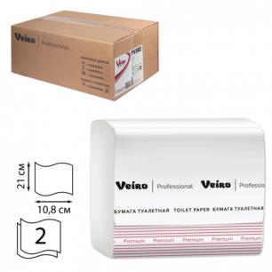 Бумага туалетная VEIRO (L1), КОМПЛЕКТ 30шт, Premium, лист, 250л, 21х10,8, 2-сл, (дисп. 600292)  TV302