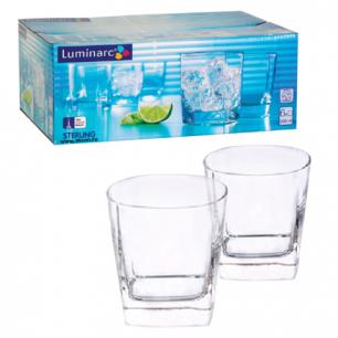 """Набор посуды стаканы для сока, виски LUMINARC """"STERLING"""", 6 шт, 300 мл, низкие, стекло, H7669"""