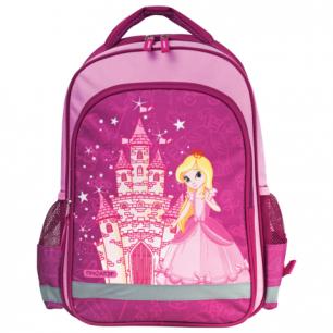 Рюкзак ПИФАГОР для нач.школы, дев., розовый, Принцесса, 38*28*14 см, 225300