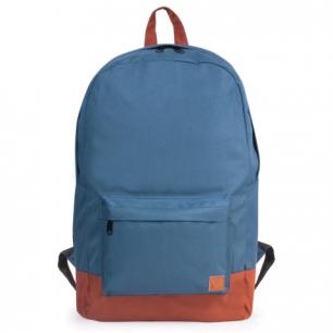 Рюкзак BRAUBERG B-HB1609 ст.класс/студенты/молодежь, Синий с коричневым дном, 33*26*10 cм, 225359