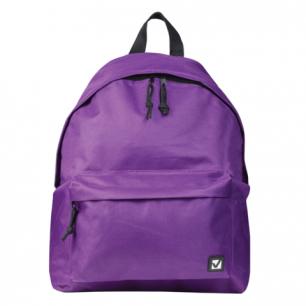 Рюкзак BRAUBERG B-HB1626 ст.класс/студенты/молодежь, сити-формат, Один тон Фиолетовый, 41*32*14,225376