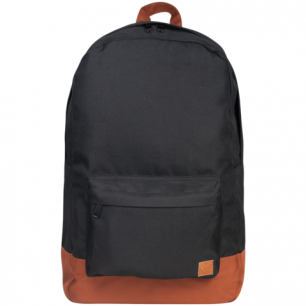 Рюкзак BRAUBERG B-HB1608 ст.класс/студенты/молодежь, Черный с коричневым дном, 33*26*10 cм, 225358