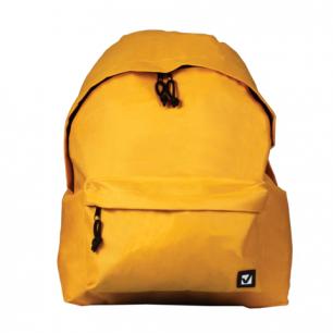 Рюкзак BRAUBERG B-HB1628 ст.класс/студенты/молодежь, сити-формат, Один тон Желтый, 41*32*14, 225378