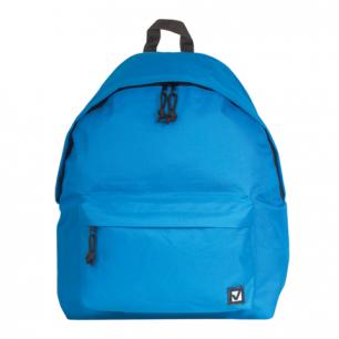 Рюкзак BRAUBERG B-HB1624 ст.класс/студенты/молодежь, сити-формат, Один тон Голубой, 41*32*14, 225374