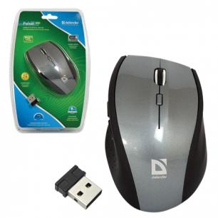 Мышь беспроводная оптическая DEFENDER Pulsar 655G, USB, 5кнопок+1колесо-кнопка 52655