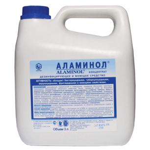 Средство дезинфицирующее АЛАМИНОЛ, 3л, концентрат, ш/к 07530
