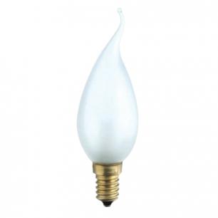 Лампа накаливания PHILIPS BXS35 FR E14, 40Вт, свеча на ветру, мат., колба d=35мм, цоколь d=14мм, 175359