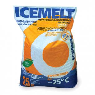 Реагент антигололедный ICEMELT (Айсмелт)  25кг, до -25С, мешок, ш/к 10029