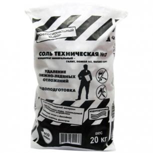 Реагент антигололедный ROCKMELT (Рокмелт)  20кг, техническая соль, мешок, ш/к 90936