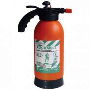 Реагент антигололедный жидкий ROCKMELT Extra (Рокмелт Экстра)  2,5л, канистра с распылителем, до -25С