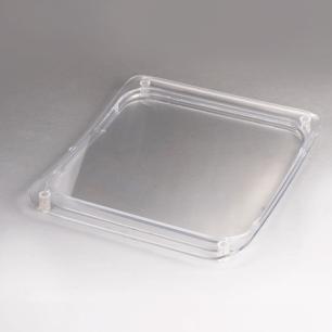 Монетница прямоугольная, 170х200 мм, прозрачная, CX005
