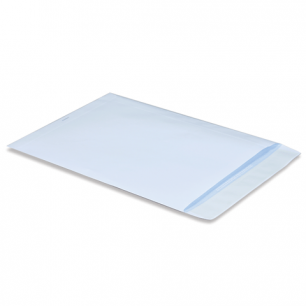 Конверт-пакет плоский (250х353мм)  белый с отрывной полосой, на 140 листов