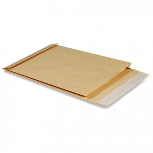 Конверт-пакет объемный (250х353х40мм)  из крафт бумаги с отр.полосой, на 300 листов