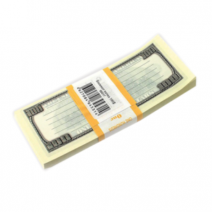 """Блок для записей """"100 долларов"""", проклеенный, 15*6*1, ш/к 78306"""