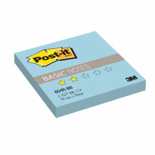 Блок самоклеящ. (стикер)  POST-IT Basic 76х76 мм, 100 л., голубой, 654R-BB