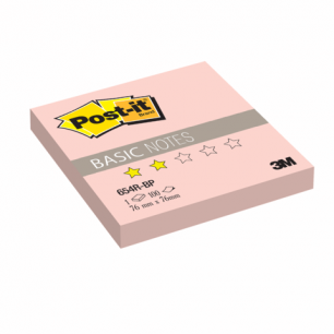 Блок самоклеящ. (стикер)  POST-IT Basic 76х76 мм, 100 л., розовый, 654R-BP