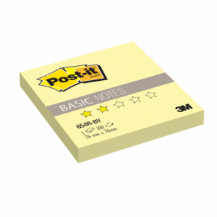 Блок самоклеящ. (стикер)  POST-IT Basic 76х76 мм, 100 л., желтый, 654R-BY