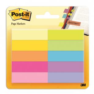 Закладки самоклеящиеся POST-IT Professional, бумажные, 12,7 мм, 10 цветов*50 шт., 670-10AB