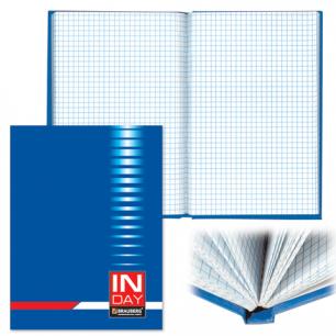 Блокнот BRAUBERG А5 135*206мм, 96л. твердая ламинированная обложка, клетка, индей синий, 121929