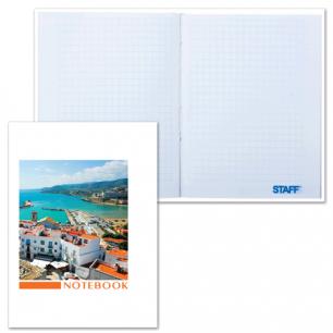 Блокнот Notebook STAFF, А6, 110*147мм, 80л. тв. лам. обложка, путешествие, 121314