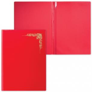 "Папка адресная ПВХ ""Орнамент виньетка"" с ляссе, формата А4, глянцевая, красная, ДПС, 2032.О-1002"