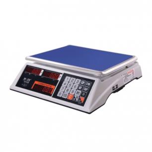 Весы торговые MERCURY M-ER 327-15.2 LED (0,05-15кг), дискретность 2г, платформа 325x230мм, без стойки