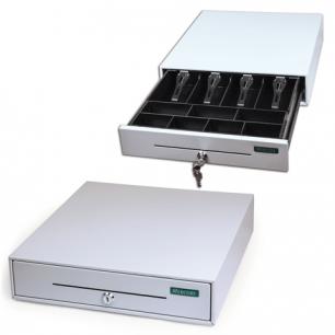 Ящик денежный для кассира Меркурий 100.1 малый 384*358*88 мм, отделений для монет -7, для купюр - 4