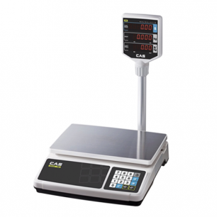 Весы торговые CAS PR-15Р (0,04-15кг), дискретность 5г, платформа 320х210мм, со стойкой
