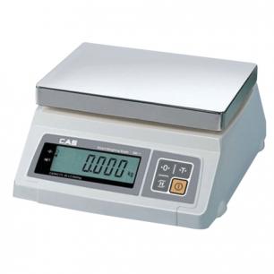 Весы фасовочные CAS SW-5 (0,04-5кг), дискретность 2г, платформа 241х192мм, без стойки