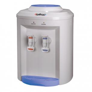 Кулер для воды HOT FROST D75E, настольный, НАГРЕВ/ОХЛАЖДЕНИЕ, 2 крана, белый/голубой, 110207501