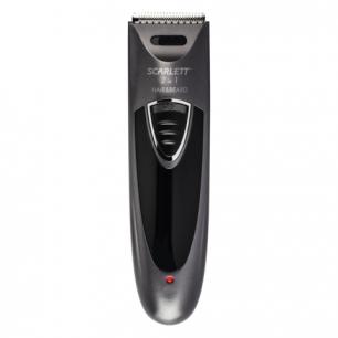 Машинка для стрижки волос SCARLETT SC-HC63C58, мощность 6Вт, 2 насадки, аккумулятор, пластик, чер