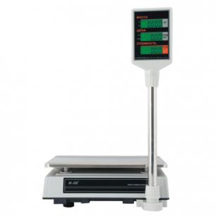 Весы торговые MERCURY M-ER 327P-32.5 LCD (0,1-32кг), дискретность 5г, платформа 325x230мм, со стойкой