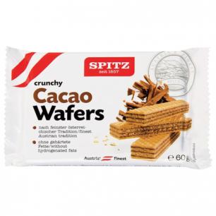 Вафли SPITZ (Австрия), хрустящие с какао-кремом, 60г, пакет, ш/к 39403