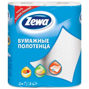 Полотенце бумажное ZEWA 2-х слойное, спайка 2шт.х15м, белое, 144001