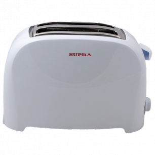 Тостер SUPRA TTS-115, мощность 900Вт, мех управление, разморозка, подогрев, пластик, белый