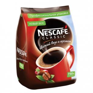 """Кофе растворимый NESCAFE """"Classic"""", гранулированный, 750г, мягкая упаковка"""