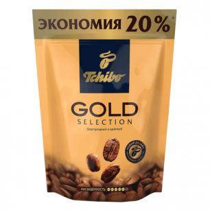 """Кофе растворимый TCHIBO """"Gold selection"""", сублимированный, 150г, мягкая упаковка, ш/к 01824"""