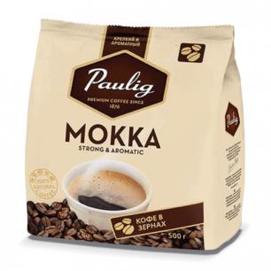 """Кофе в зернах PAULIG """"Mokka"""", натуральный, 500г, вакуумная упаковка, 16488"""