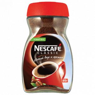 """Кофе растворимый NESCAFE """"Classic"""", гранулированный, 95г, стеклянная банка"""