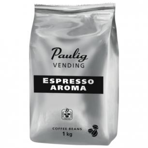 """Кофе в зернах PAULIG (Паулиг)  """"Vending Espresso Aroma"""", натуральный, 1000г, вакуумная упаковка, 16377"""