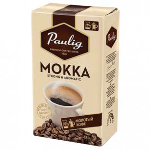 """Кофе молотый PAULIG (Паулиг)  """"Mokka"""", натуральный, 450г, вакуумная упаковка, 16674"""