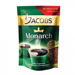 Кофе растворимый JACOBS MONARCH сублимированный, 75г, мягкая упаковка, ш/к 44235