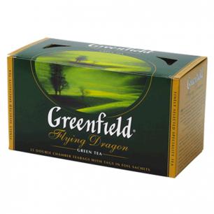 """Чай GREENFIELD """"Flying Dragon"""", зеленый, 25 пакетиков в конвертах по 2г"""