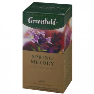 """Чай GREENFIELD """"Spring Melody"""" (Мелодия весны), черный с чабрецом, 25 пак. в конв. по 2г, 0525"""