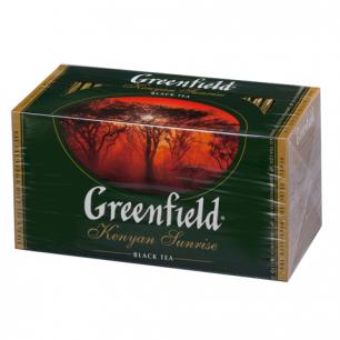 """Чай GREENFIELD """"Kenyan Sunrise"""" (Рассвет в Кении), черный, 25 пакетиков в конвертах по 1,5г, 0489"""