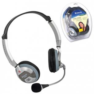 Гарнитура DEFENDER HN-928, 3м, стерео с оголовьем, регулятор громкости, 63928