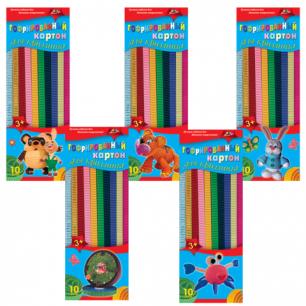 Цветной картон для квиллинга АППЛИКА ГОФРИРОВАННЫЙ, 10 цв, 60 полосок (дл.295мм, шир.10мм), С1913