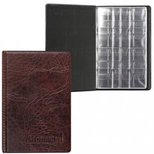 Альбом д/монет 115х170х10 мм, для 108 монет, 2+4+2 листа (карманы 23*25+32*40+52*54мм), АМК-108К